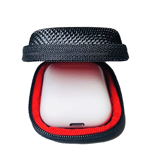 buy popular 73644 5af06 Qladcase for AirPods Hard Carrying Case, Compact Earbuds Holder MP3  Bluetooth iPod Earphones Earbuds Apple Headphones, Zipper Enclosure Perfect  for ...