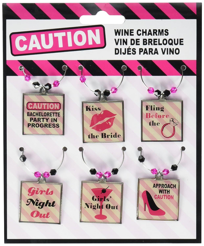 Amazon Lillian Rose Bachelorette Party Theme Decor Wine Charms Home Kitchen