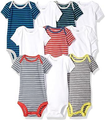 9db7889fe Amazon.com  Carter s Baby Boys  10-Pack Short-Sleeve Bodysuits  Clothing