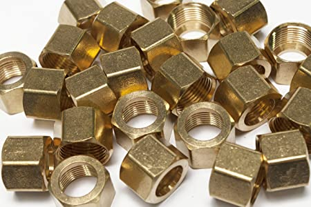"""Pack of 50 New 3//16/"""" Brass Compression Nut,BRASS COMPRESSION FITTING"""