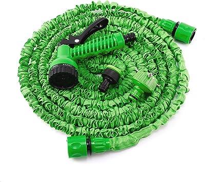 Manguera Expandible Flexible de Riego + Pistola con 7 Modos + Conector para Jardín Hogar Coche (22, 5 metros, verde): Amazon.es: Bricolaje y herramientas