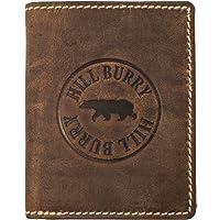 Hill Burry Portefeuille Cuir Véritable Homme RFID | Porte-Monnaie en Cuir véritable de première qualité | Porte-Monnaie en Cuir de qualité pour Homme avec Un Look Vintage | Porte-Cartes pour Homme