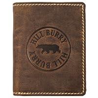 Hill Burry Portefeuille Cuir Véritable Homme   porte-monnaie en cuir véritable de première qualité   Porte-monnaie en cuir de qualité pour Homme avec un look vintage   porte-cartes pour homme