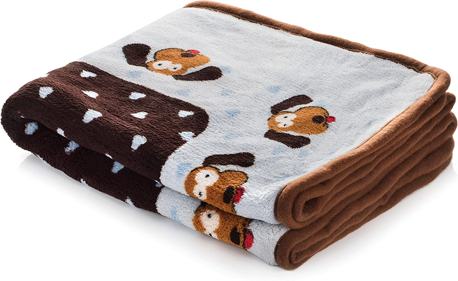 SmartPetLove Snuggle Puppy Blanket for Pets, Blue Pattern : Pet Bed Blankets : Pet Supplies
