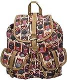 Rue Owl Print Backpack Rucksack School Bag - SwankySwans