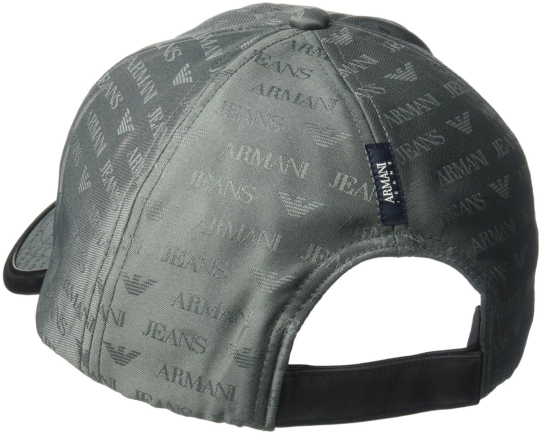 Armani Jeans All Over Aj Logo Cap One Size GREY: Amazon.es: Ropa y ...