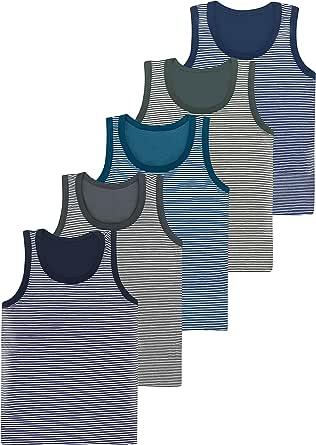 LOREZA ® 5 Camisetas de niño Camiseta sin Mangas de algodón - básico - 2-15 años