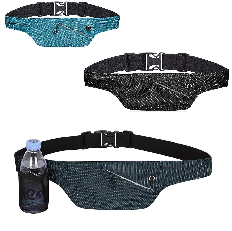 4Good praktische Flache Bauchtasche vers. Farben Running Belt Laufgürtel Hüfttasche Reisetasche Wandertasche Damen