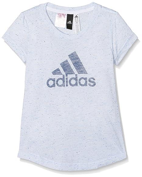 Adidas Cf6740 Camiseta, Niñas, Blanco (aeroaz/Añil), 116-5