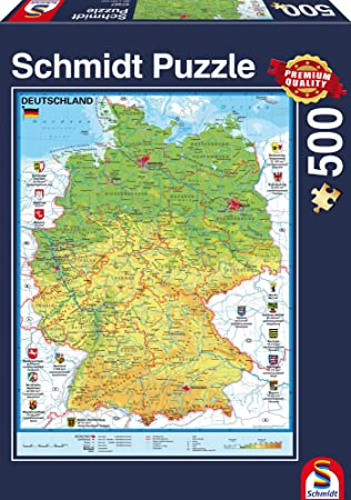 Amazon schmidt jigsaws map of germany 500 pieces toys games schmidt jigsaws map of germany 500 pieces gumiabroncs Choice Image