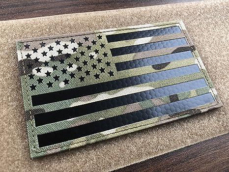 Parche de velcro para chaleco táctico con bandera estadounidense infrarroja de infrarrojos (12,7 cm de ancho x 7,6 cm de altura): Amazon.es: Juguetes y juegos