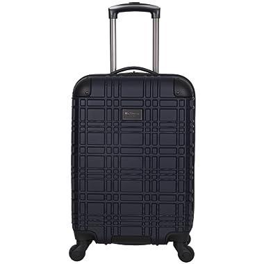 Ben Sherman Nottingham 20-Inch Carry-On Lightweight Durable Hardshell 4-Wheel Spinner Cabin Size Luggage, Navy