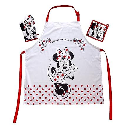 Grembiule Cucina Minnie.Il Regalo Per La Walt Disney Minnie Mouse Fan Piano Grembiuli Set Con Minnie Mouse Mini Minie Grembiule 100 Cotone