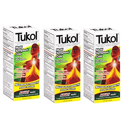 Amazon.com: TUKOL Adult Maximum Strength Multi Symptom Cold Medicine 4 oz 3 Pack: Health & Personal Care