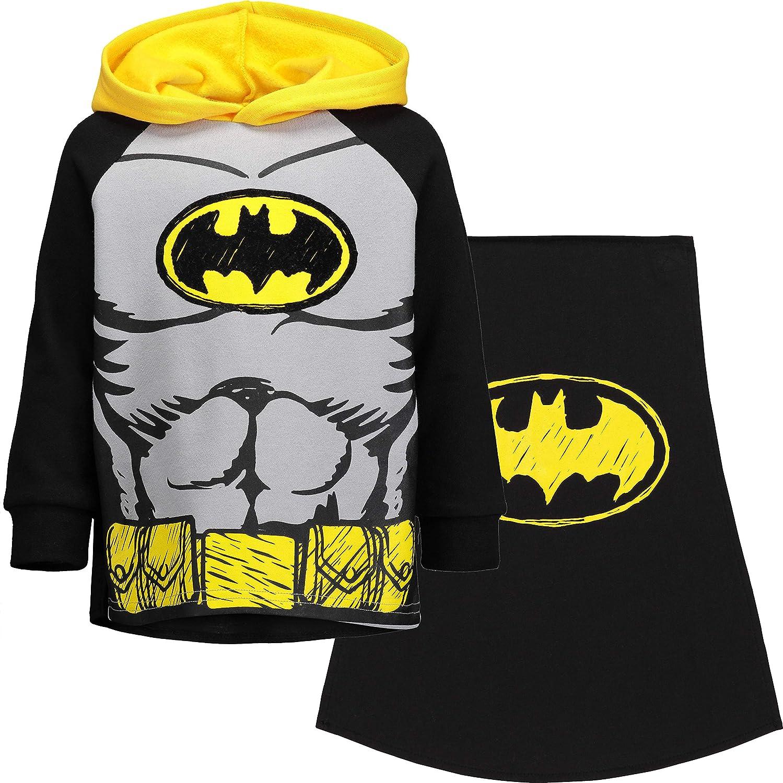DC Comics Batman Superman Boys Fleece Hoodie with Cape: Clothing