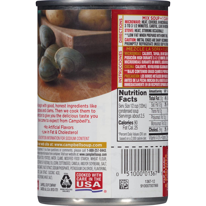 Campbells - Sopa condensada, crema de almejas nueva inglaterra,: Amazon.es: Alimentación y bebidas