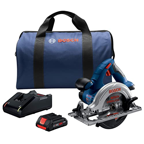 Bosch CCS180-B15 18V 6-1 2 In. Circular Saw Kit with 1 CORE18V 4.0 Ah Compact Battery