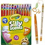 Crayola 72pk Silly Scents Twistables Coloured Crayons and Pencils Pack, 36 Scented Twistables Pencils and 36 Scented Mini Twistables Crayons