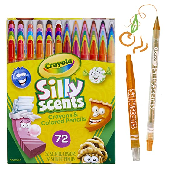 Crayola Twistables Scented Crayons & Colored Pencils, 72 Count