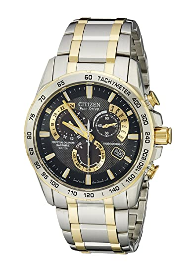 Citizen Mens Perpetual Chrono A T Watch At4004 52e Citizen Amazon