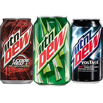 Amazon.com : Mountain Dew Variety Pack, With Mtn Dew, Code Red, and ...