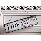 Chic & Shabby Dream Sweet Dream Wooden Door Wall Sign Plaque Vintage Distressed