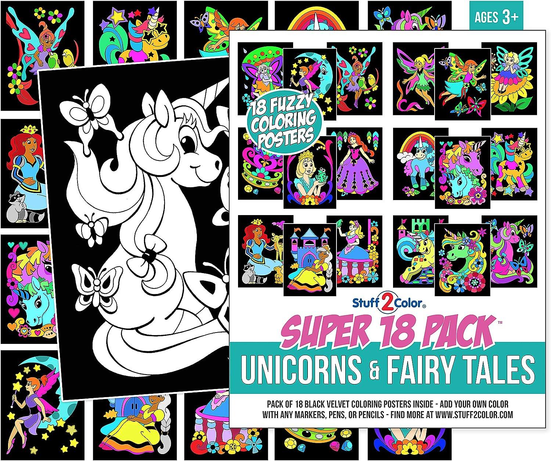 Glare Free Vinyl 7/' wide by 5/' tall Sweet Unicorns on white Backdrop TL0448