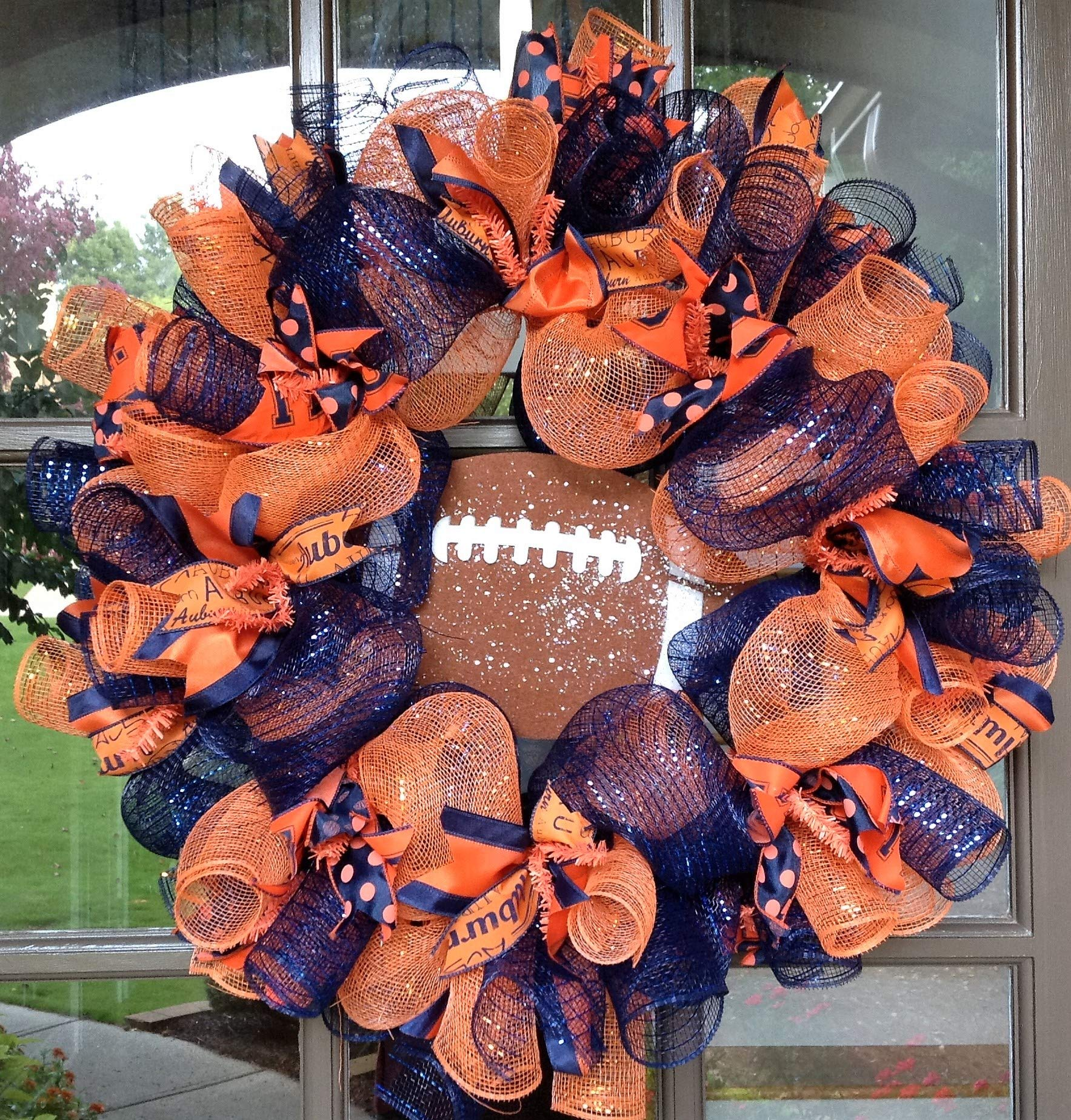 Flora Decor Auburn Tigers Collegiate Wreath - 24''