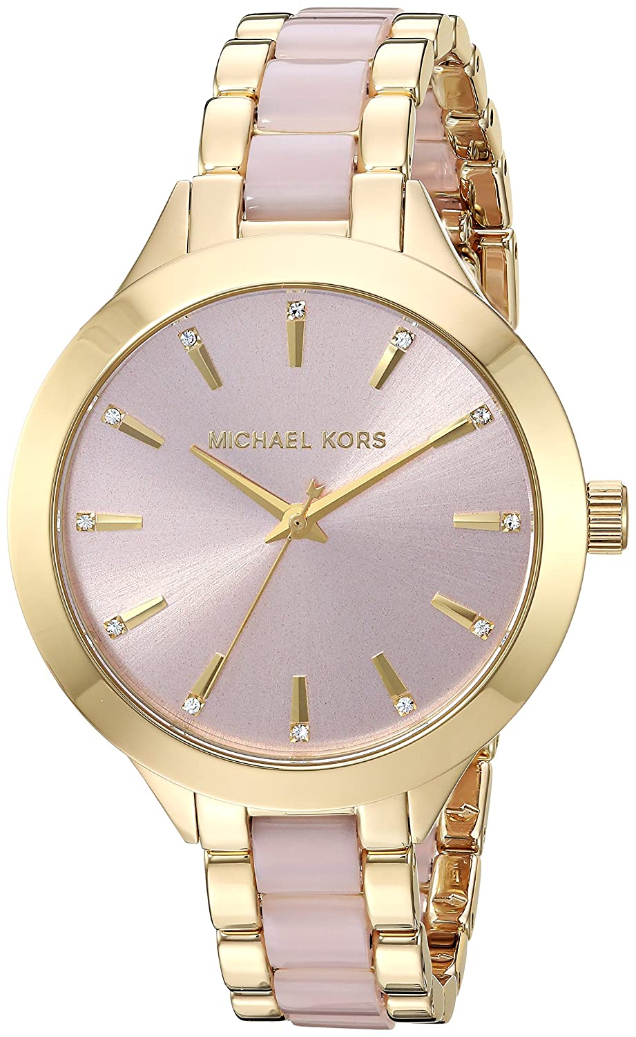 4d4b7dd9c55e3 Michael Kors Women's MK3633 - Elena Rose Gold One Size: Amazon.co.uk ...