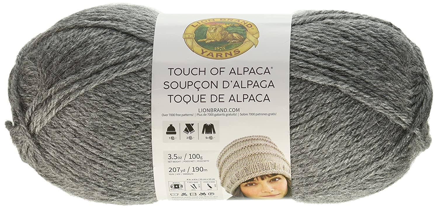 Amazon.com: Lion Brand Yarn 674-150 Touch of Alpaca, Oxford Grey