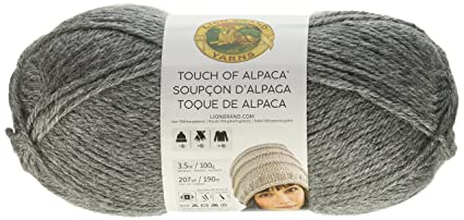 Amazon.com  Lion Brand Yarn 674-150 Touch of Alpaca Yarn Oxford Grey ... c5073208592e