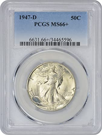 1947 P/&D Walking Liberty Half Dollar Set 50c Very Fine