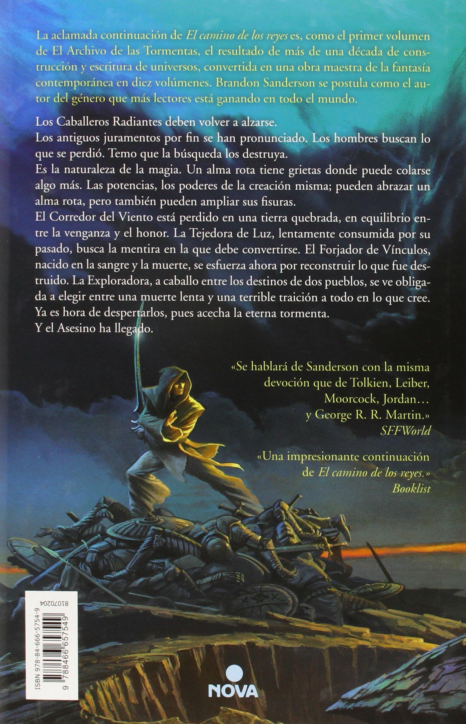 Palabras radiantes (El Archivo de las Tormentas 2): Amazon.es: Brandon  Sanderson, Rafael Martín Trechera;: Libros