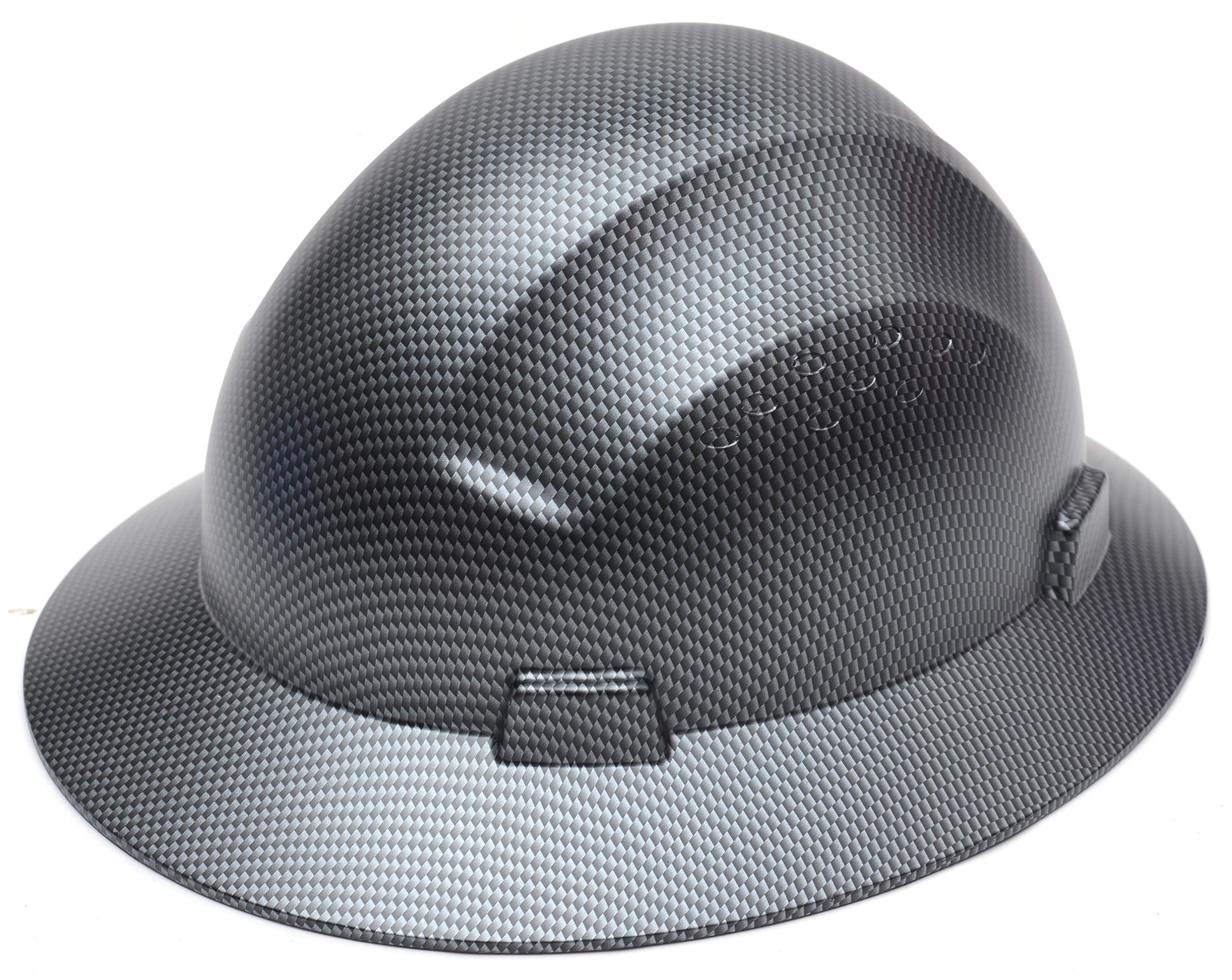 CJ Safety Full Brim Fiber Glass Hard Hat with Fas-Trac Suspension (Black) by CJ Safety