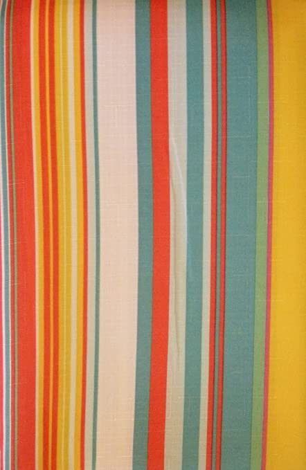 Blue, Orange, Pink, Green, Yellow, And White Striped Tablecloth (60x84