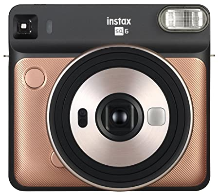 Fujifilm Instax Square SQ6 Instant Camera (Blush Gold) Digital Cameras at amazon