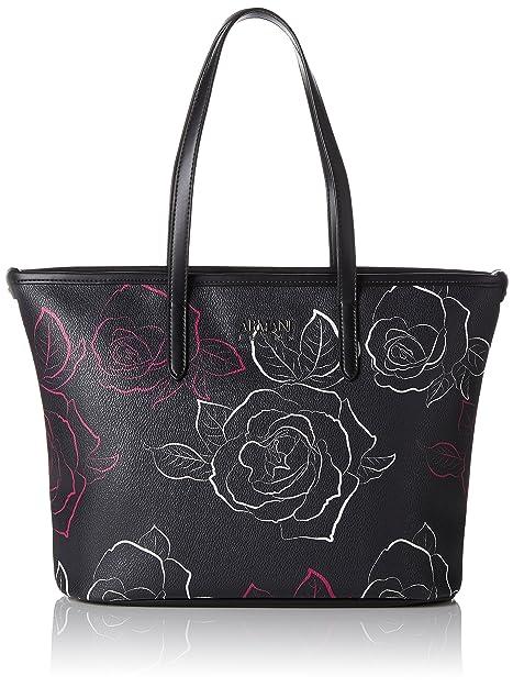 3310c27990 Armani Jeans Borsa Shopping - Borse Tote Donna, Mehrfarbig (Nero/bianco/ fuchsia