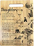 """Gift for Daughter - Engraved bamboo cutting board 9"""" x 12"""""""