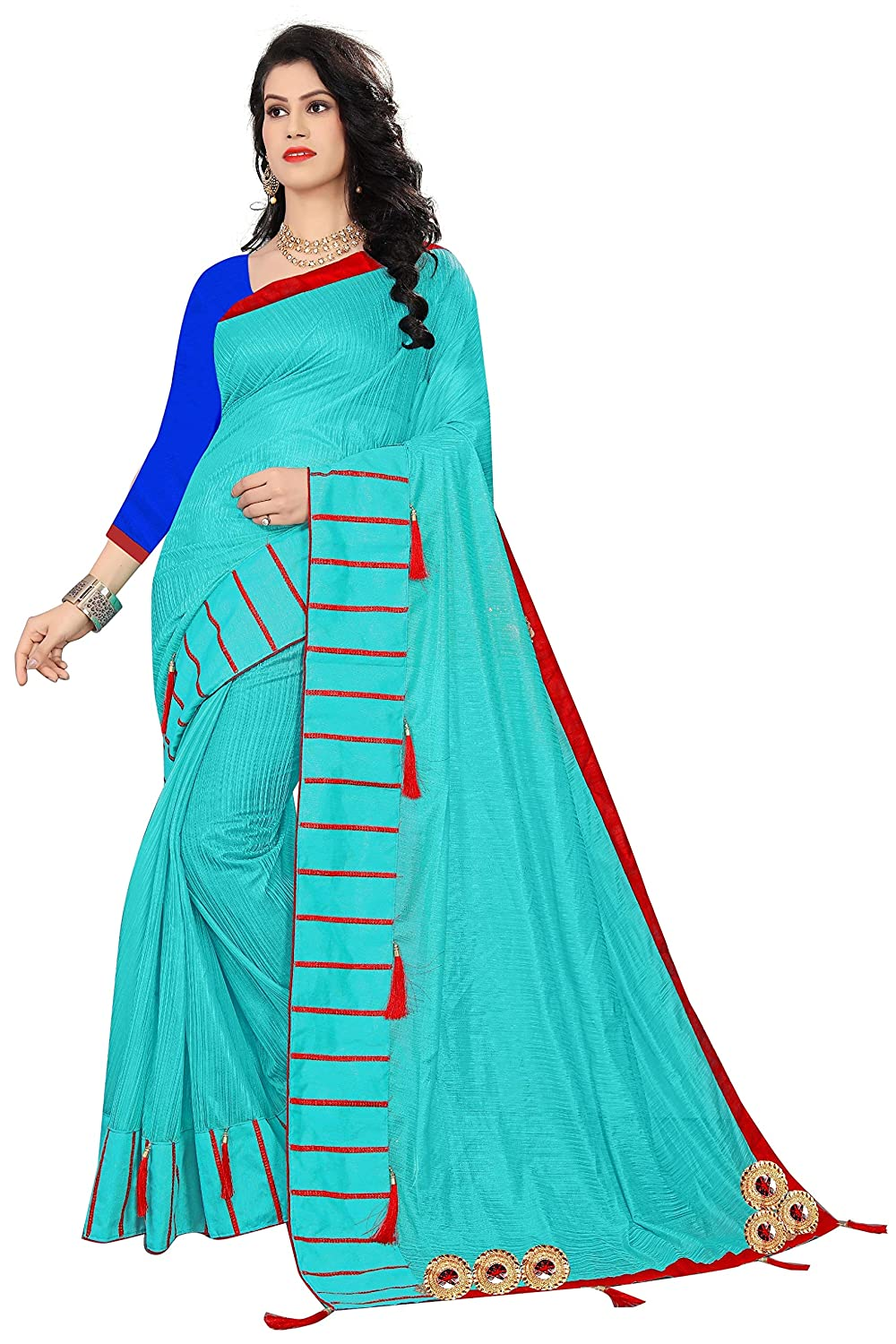 Florence Women's Turquoise Pure Soft Polyester Stone,