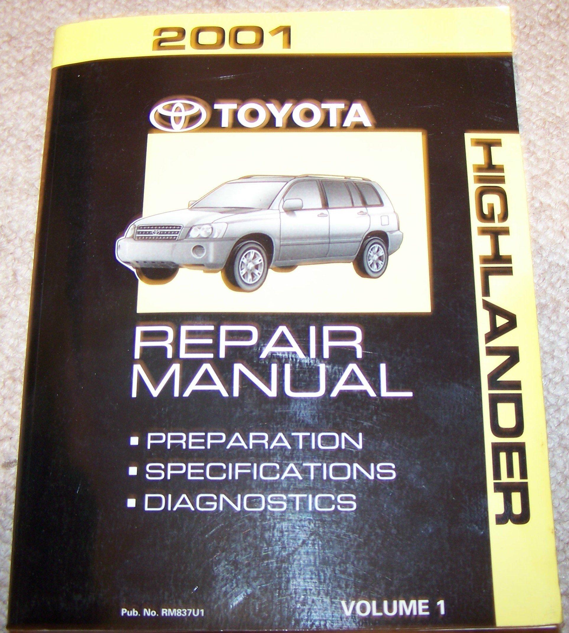 2001 Toyota Highlander Repair Manual: Toyota Motor Corp: Amazon.com: Books