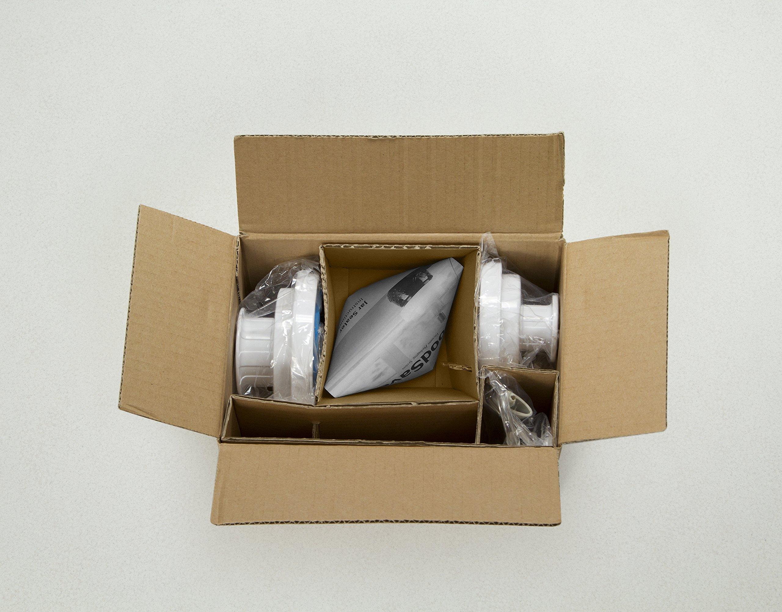 FoodSaver Vacuum Sealer FCARWJAH-000 Wide-Mouth Jar Kit with Regular Sealer and Accessory Hose, White by FoodSaver (Image #4)