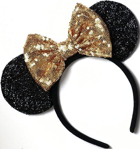 Beautiful Princess Aqua Mint Green Tiara Crown Bow inspired Silver Sparkle  Minnie Mouse Headband Ears