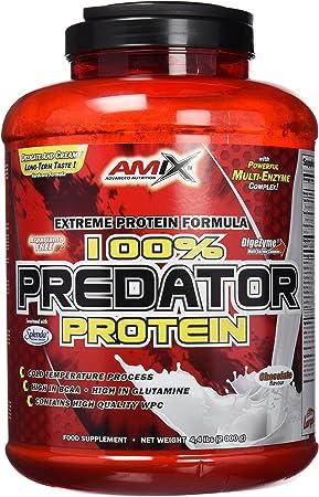 AMIX - Proteínas para Aumentar Masa Muscular - Predator - 2 Kg - Ayuda al Crecimiento Muscular - Libre de Aspartamo - Proteína de Suero de Calidad - ...