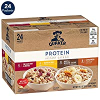 Deals on 24-Count Quaker Instant Oatmeal Protein Variety Pack