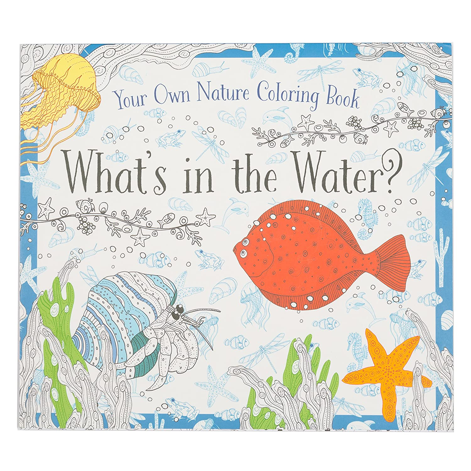 Coloring Book - Whats In The Water - Kids Coloring Book With 24 Beautiful Illustrations Babalu
