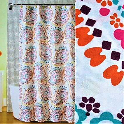 Image Unavailable Not Available For Color Mainstays Print Paisley Fabric Shower Curtain