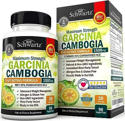 Amazon Com Garcinia Cambogia 95 Hca Pure Extract Fast Acting