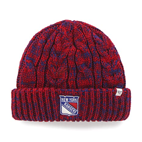 promo code faea3 6d1d0 Image Unavailable. Image not available for. Color  NHL New York Rangers  Women s  47 Prima Cuff Knit Beanie ...