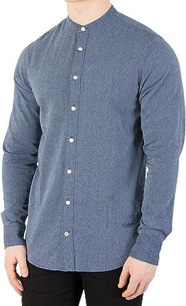 Tommy Hilfiger de los Hombres Camisa Fina de Fino Color añil, Azul