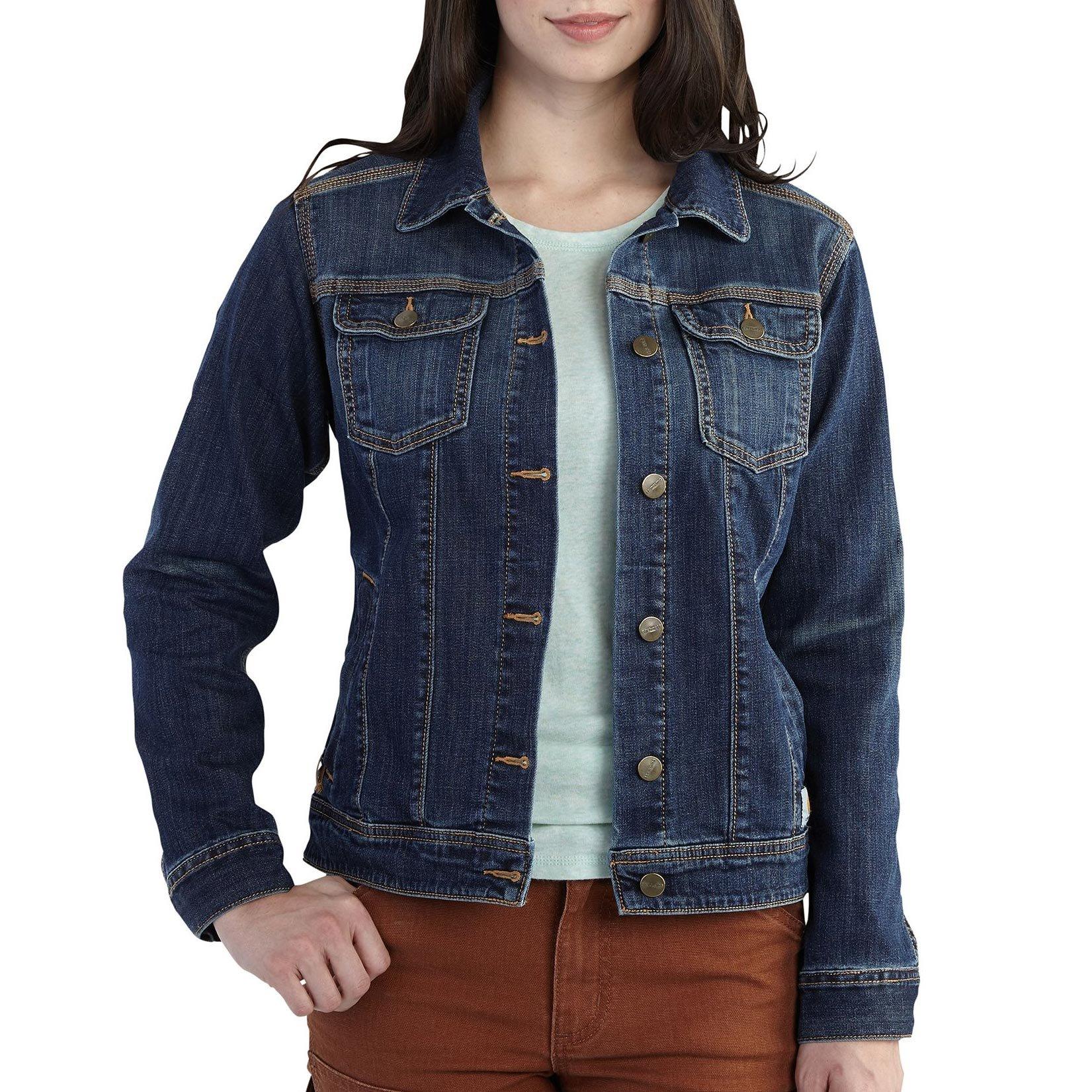 Carhartt Women's Brewster Denim Jacket, Timeworn Indigo, Small